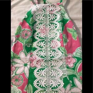 Iconic Pink & Green Lilly Pulitzer Halter Top